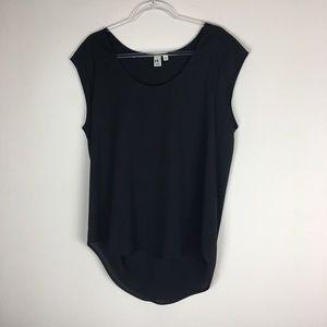 14th & Union Size XL Black Sheer Blouse P14